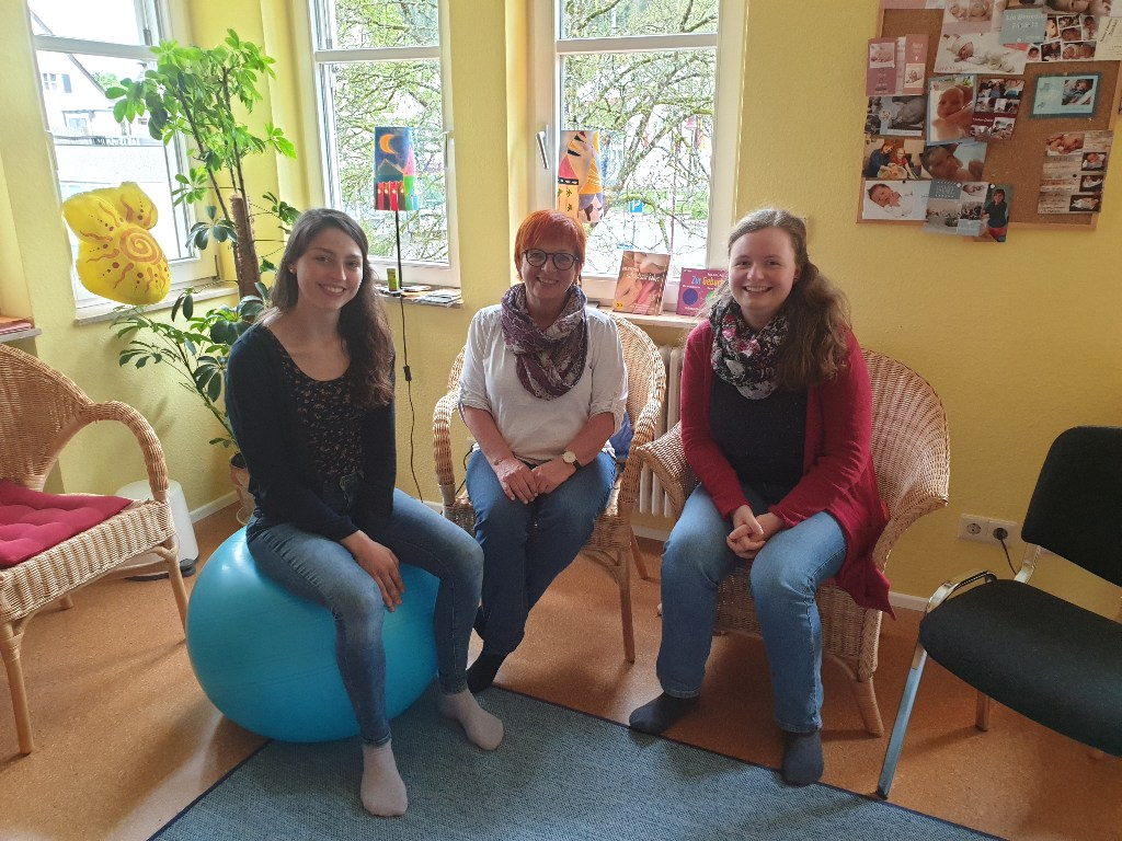 Hebamme Marina Stern, Anita Frank und Kirstin Köllermeyer